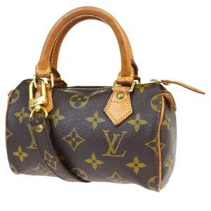 LOUIS VUITTON Mini Speedy 2Way Hand Bag Monogram